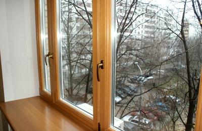 Готовое деревянное окно